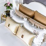 "Luxury Bed Linen Set ""Mustard and Brown"""