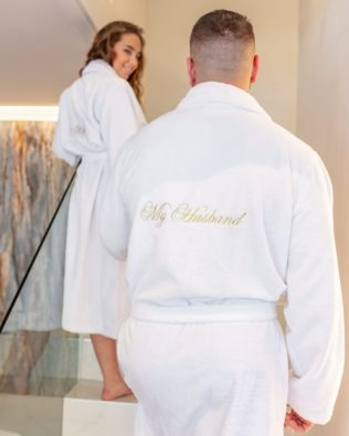 "Men's Bathrobe ""My husband"""