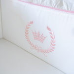 "Luxury Baby Bedding ""Pink Crown"""