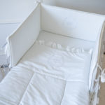 "Luxury Baby Bedding ""White Crown"""