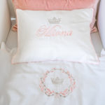 "Pillow ""Name with crown"""