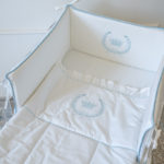 "Luxury Baby Bedding ""Blue Crown"""