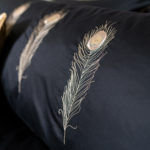"Long Pillow ""Peacock Feather"""