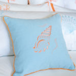 "Decorative Pillow ""Coral Seashell"""