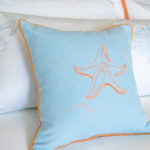 "Decorative Pillow ""Coral Starfish"""