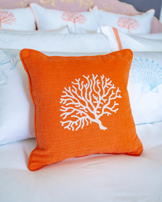 "Decorative Pillow ""Orange Coral"""