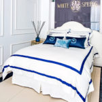 "Luxury Bed Linen Set ""Bold Blue Finished"""