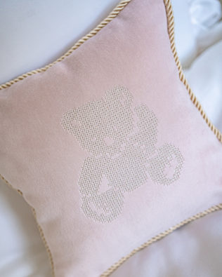 "Pillow ""Teddy Bear"" light pink"