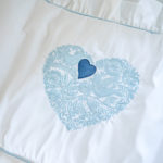 "Luxury Baby Bedding ""Blue Heart"""