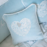 "Pillow ""Blue Heart"""