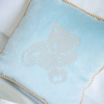 "Pillow ""Teddy Bear"" light blue"