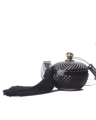 Black Queen of the Night Round Candle