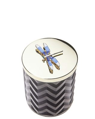 Navy & Dragonfly Candle with Scraf