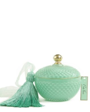 Tiffany Blue Round Candle